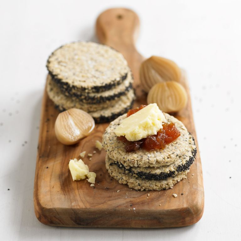 Photo of a seeded oatcakes