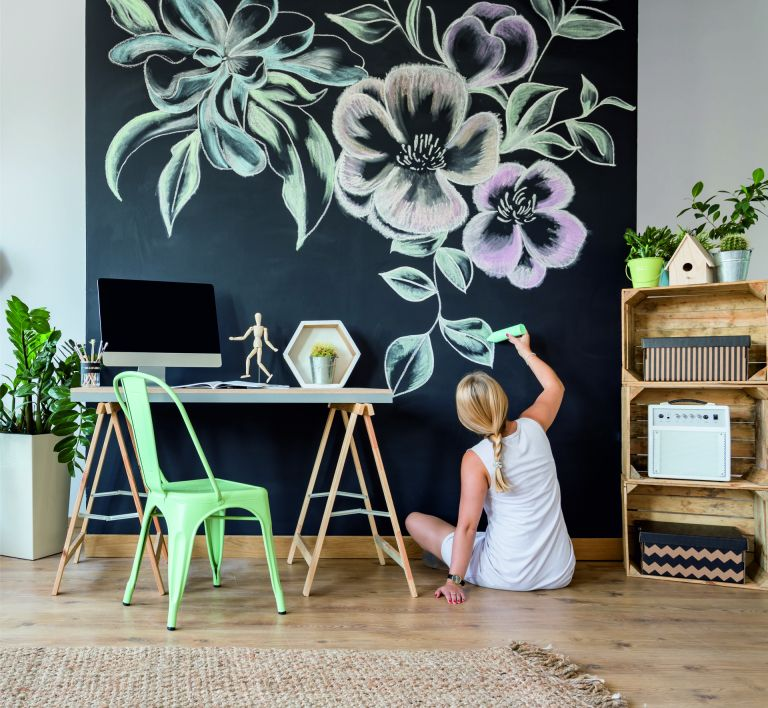 chalk film in home office by purlfrost