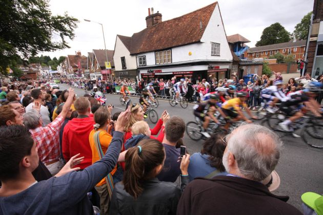 Reigate crowds, Tour of Britain 2012, stage eight