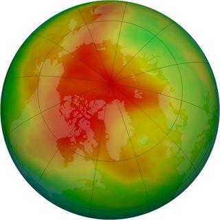 Antarctic ozone levels