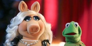Miss Piggy and Kermit from The Muppets TV series