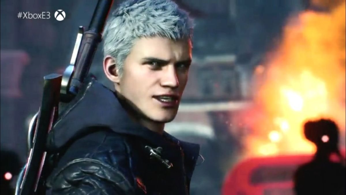 Devil May Cry 5's coming in spring 2019 and it stars Nero, Dante, and a wise-talking mechanic