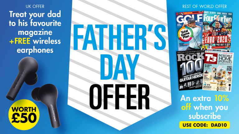 Father's day offers: UK – treat your dad to his favourite magazine and FREE wireless earphones worth £50! Overseas – Get an extra 10% off when you subscribe using code 'DAD10'.