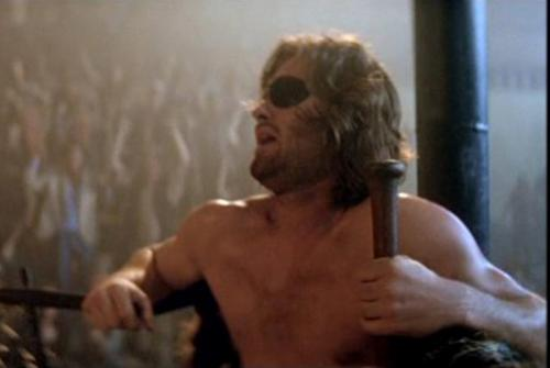 Escape from New York - Kurt Russell's Snake Plissken takes a breather during his Madison Square Garden bout with giant opponent Slag in John Carpenter's 1981 sci-fi classic.