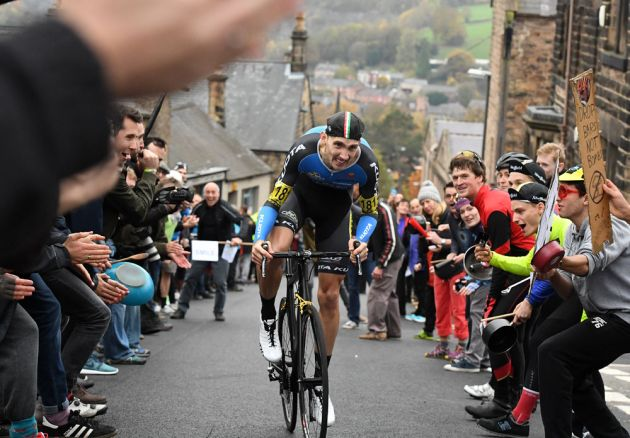 Adam Kenway on the way to winning the men's title at the 2016 British Hill-Climb National Championships