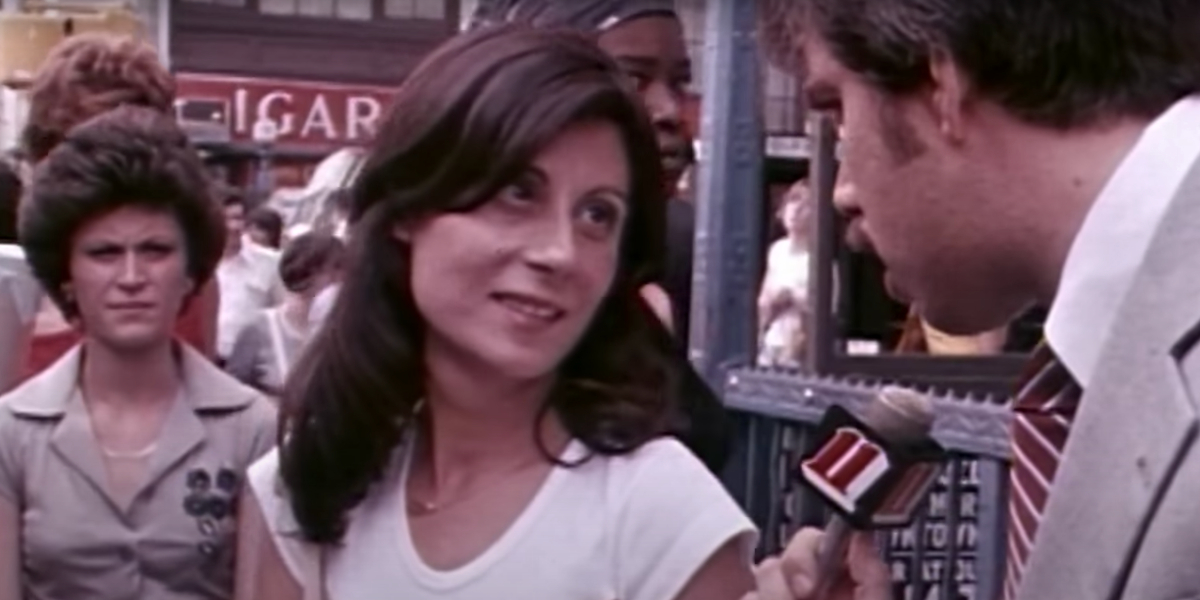A woman being interviewed about Son of Sam in The Lost Tapes: Son of Sam