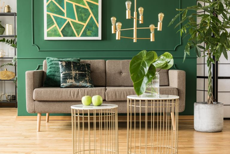 Nordstrom Anniversary sale inspired pieces in a gorgeously green room with gold accents