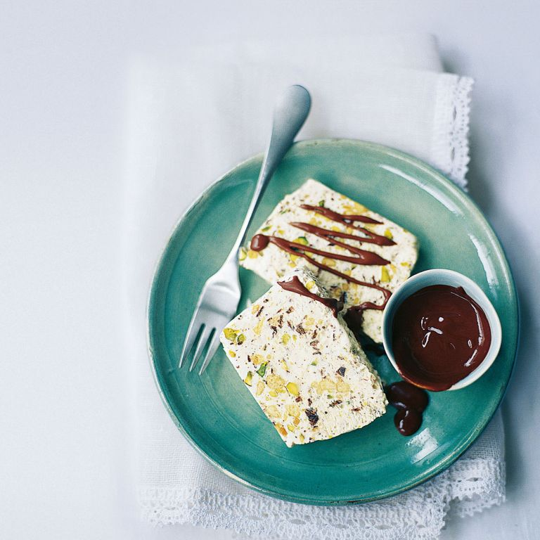 Turron Parfait with Sherry Chocolate Sauce recipe-recipe ideas-new recipes-woman and home