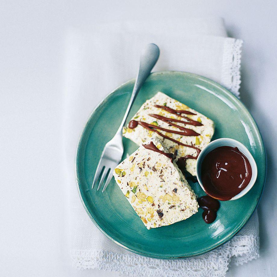 Turron Parfait With Sherry Chocolate Sauce Recipe