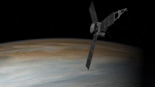 Juno Orbiting Jupiter: Artist's Illustration