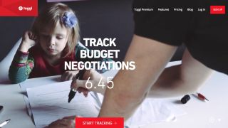 Toggl screenshot says Track Budget Negotiations