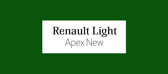 Renault Light and Apex-New font pairings