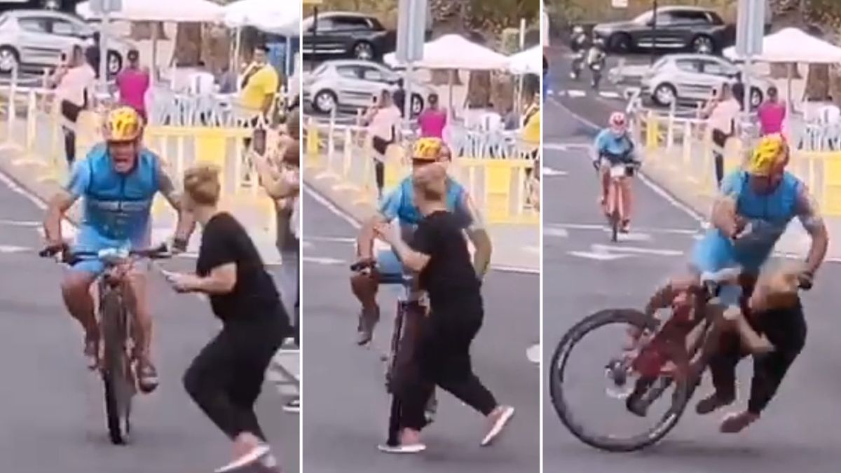 Cyclist taken to hospital after brutal crash with spectator in Canary Islands