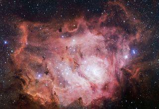 Lagoon Nebula Glows Pink