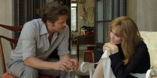 By The Sea Brad Pitt and Angelina Jolie sitting across from each other
