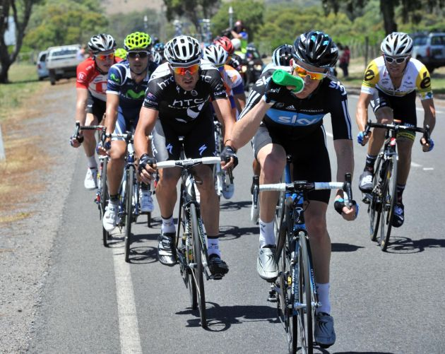 Michael Rogers in the escape, Tour Down Under 2011, stage five