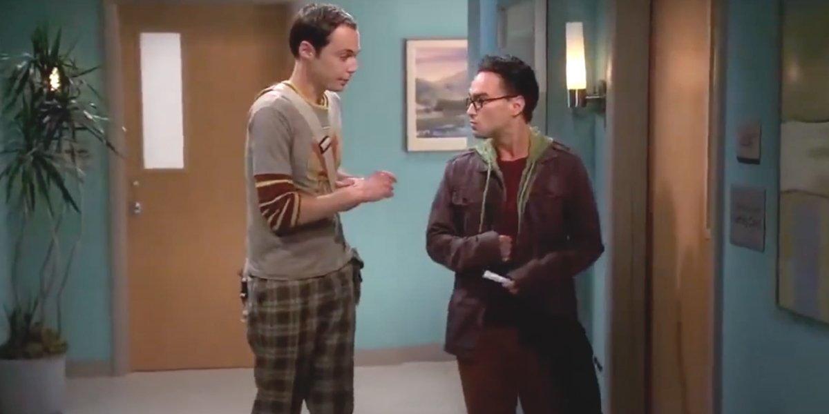 Jim Parsons and Johnny Galecki on The Big Bang Theory
