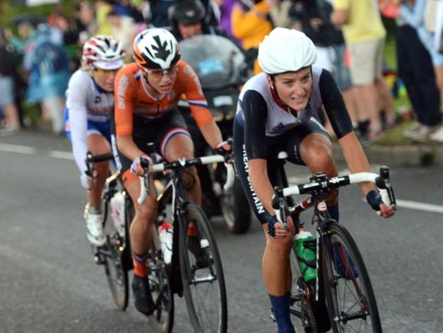 Lizzie Armitstead and Marianne Vos, London 2012