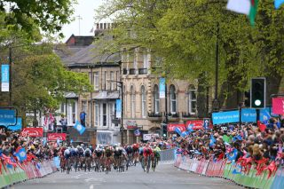 Cycling: 3rd Tour of Yorkshire 2017 / Stage 2 Arrival / Nacer BOUHANNI (FRA)/ Caleb EWAN (AUS)/ Jonathan HIVERT (FRA)/ Dylan GROENEWEGEN (NED)/ Tadcaster - Harrogate (122,5Km) / Tour de Yorkshire / © Tim De Waele