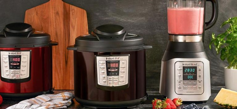 Instant pot deals: Instant pot products lined up on kitchen counter