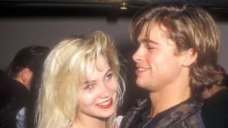A picture of Christina Applegate and Brad Pitt