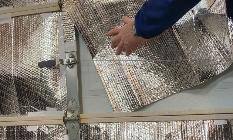 Insulating a space with reflective foil