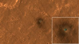 The HiRISE camera on NASA's Mars Reconnaissance Orbiter got its best view yet of the agency's InSight lander on September 23, 2019.