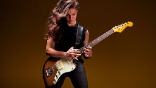 Baroness guitarist Gina Gleason plays a Fender American Ultra Jazzmaster
