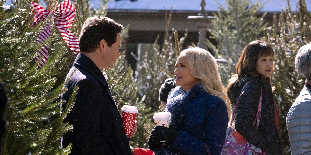 Scott Wolf and Kristin Chenoweth in Hallmark's A Christmas Love Story