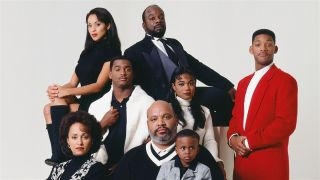 The cast of NBC's 1990-96 sitcom The Fresh Prince of Bel-Air.