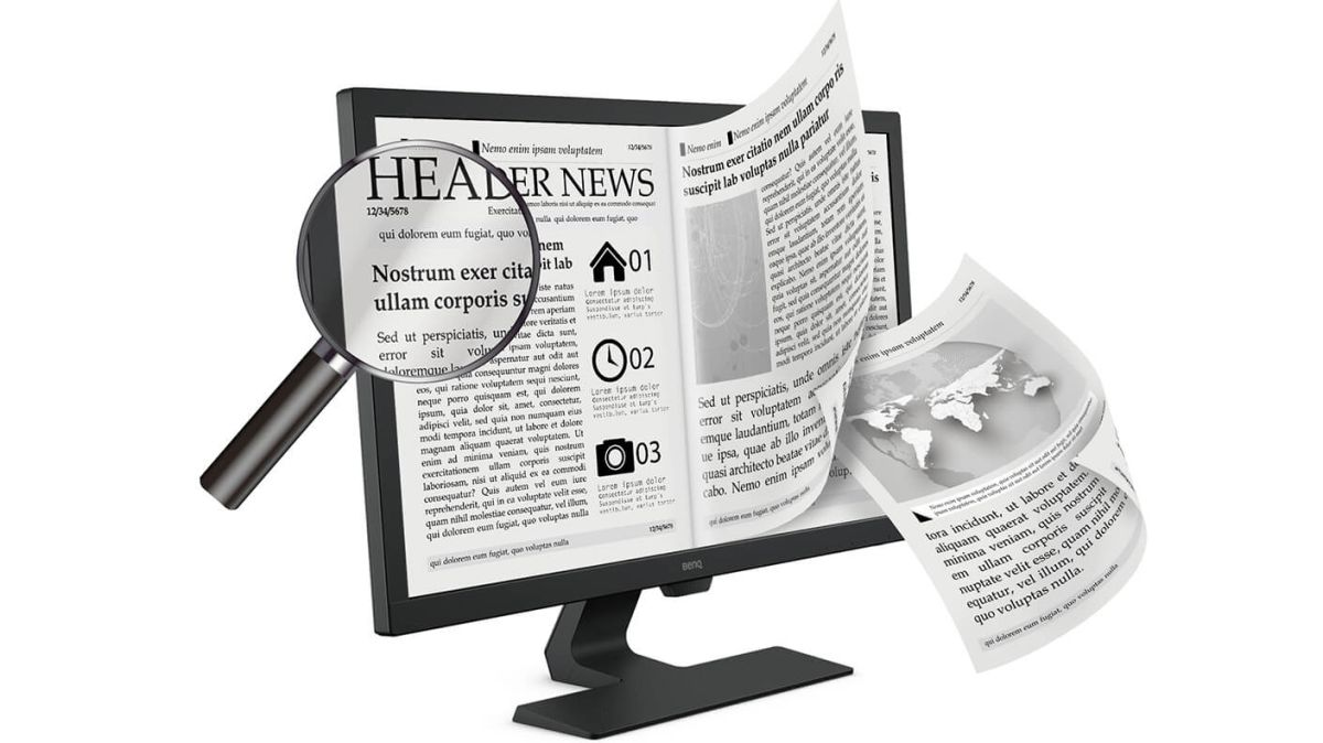 New BenQ monitors feature an 'ePaper' mode for easier reading