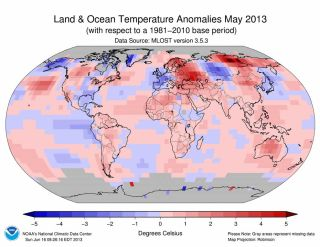 May 2013 Temperature Anomalies