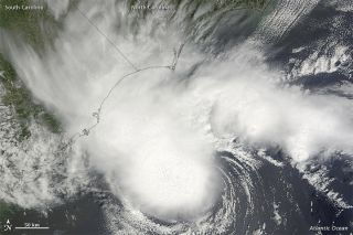 This image of Tropical Storm Alberto was taken by the Moderate Resolution Imaging Spectroradiometer (MODIS) on NASA's Terra satellite on May 19.