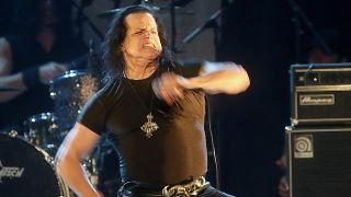 A picture of Glenn Danzig performing on stage