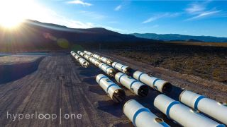 The Hyperloop One test track, dubbed the DevLoop, will be made up of a series of tubes that will extend 1,640 feet (500 meters).