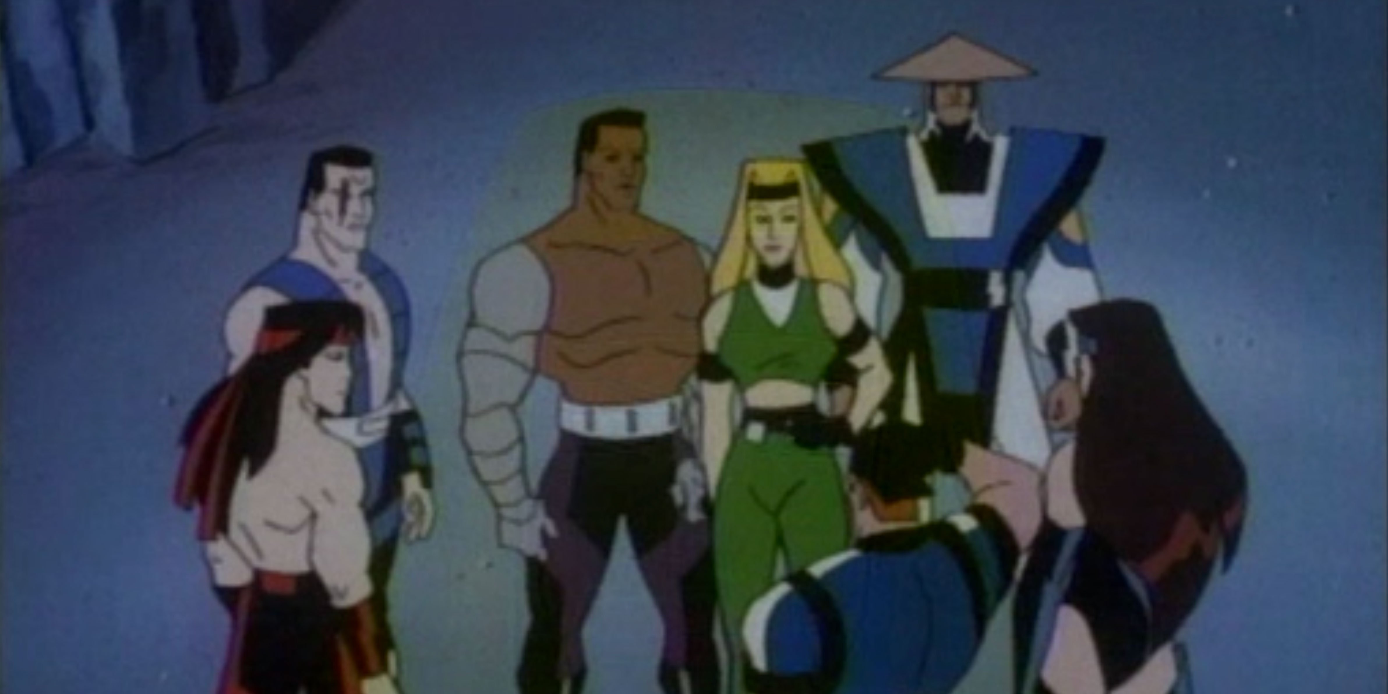 The cartoon versions of Mortal Kombat fighters in Mortal Kombat: Defenders of the Realm