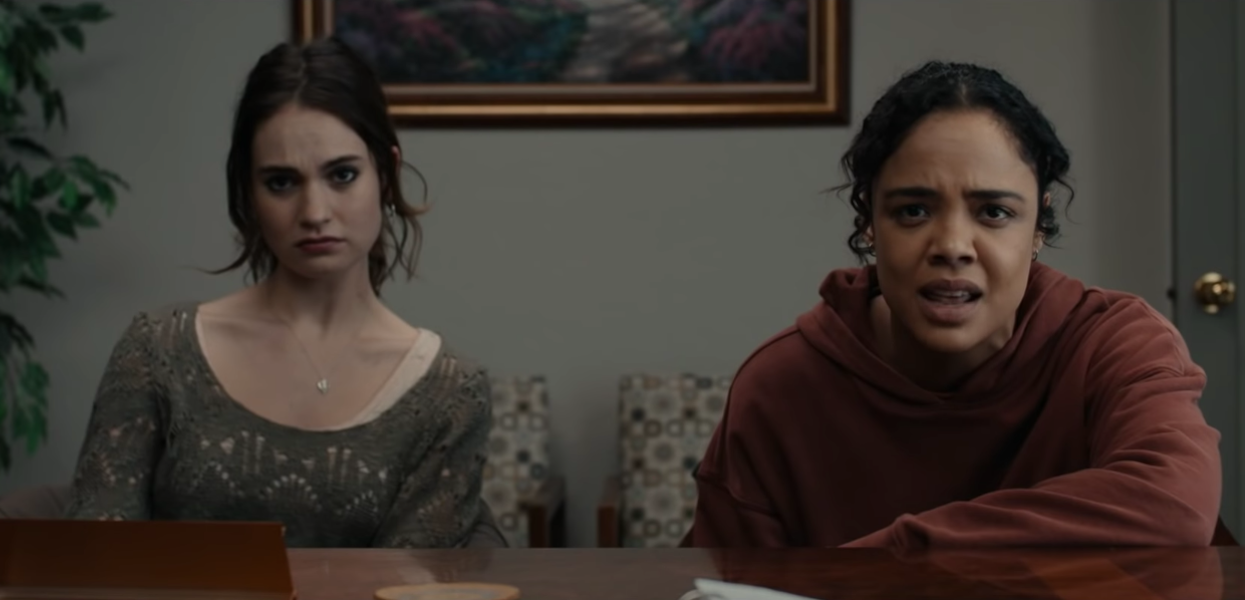 Lily James and Tessa Thompson in Little Woods