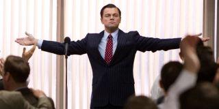 Leonardo DiCaprio as Jordan Belfort in Wolf of Wall Street