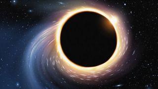 Illustration of a black hole.
