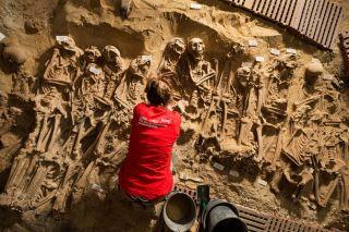mass grave beneath Paris supermarket