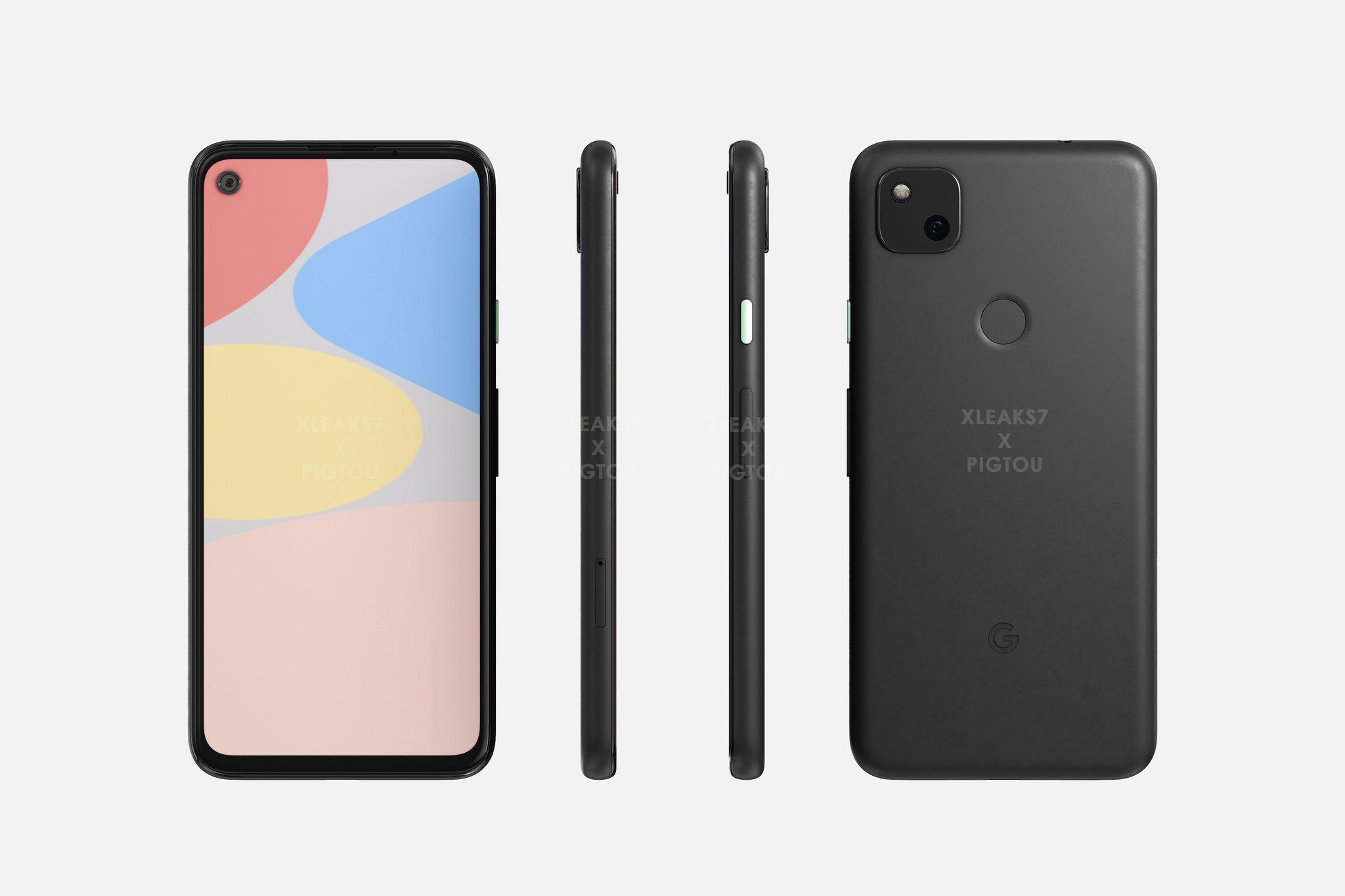 Design de conceito do Google Pixel 4a