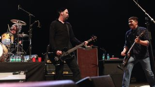 Dave Grohl, Krist Novoselic, and Pat Smear of Nirvana perform at Hammerstein Ballroom on February 13, 2013 in New York City