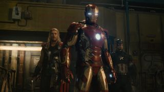 """Iron Man, Thor and Captain America in """"Avengers: Age of Ultron."""""""