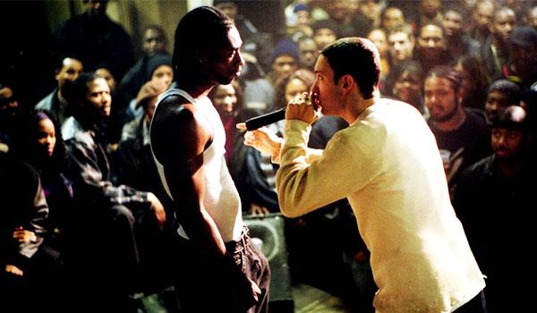 Eminem faces off in an epic rap battle in 8 Mile