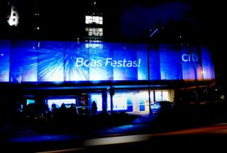 Founders and Christie Light Up Citibank in São Paulo