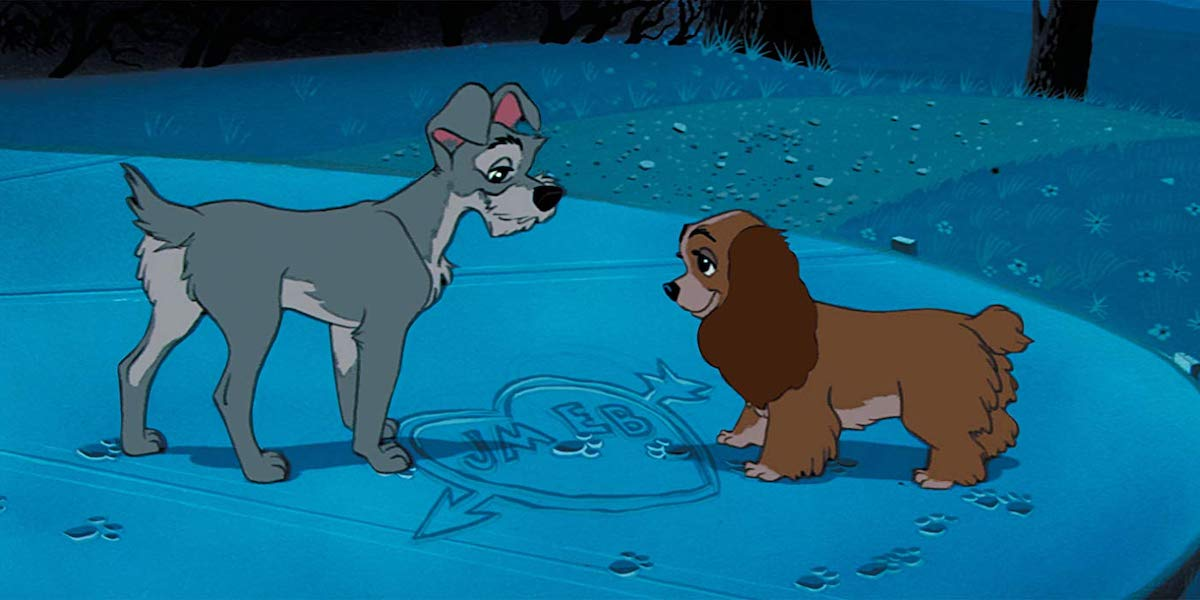 Lady and the Tramp disney animated original