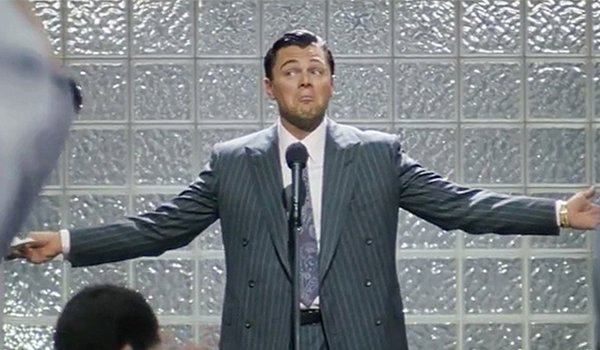 Leonardo DiCaprio as Jordan Belfort, who wasn't really called The Wold Of Wall Street