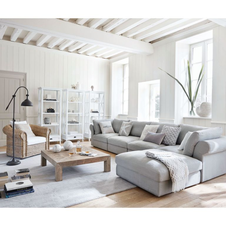 Grey sofa bed from Maison du Monde