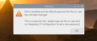SSH Password Warning on Raspberry Pi