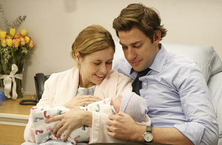 Jim and Pam's first baby in The Office